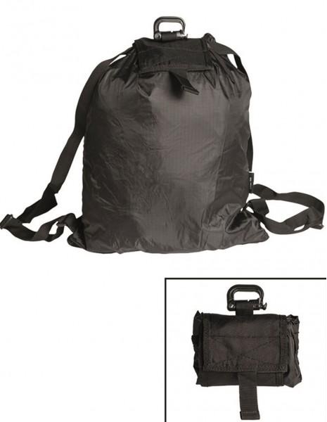 Miltec 14049002 Roll-Up Folding Backpack Black
