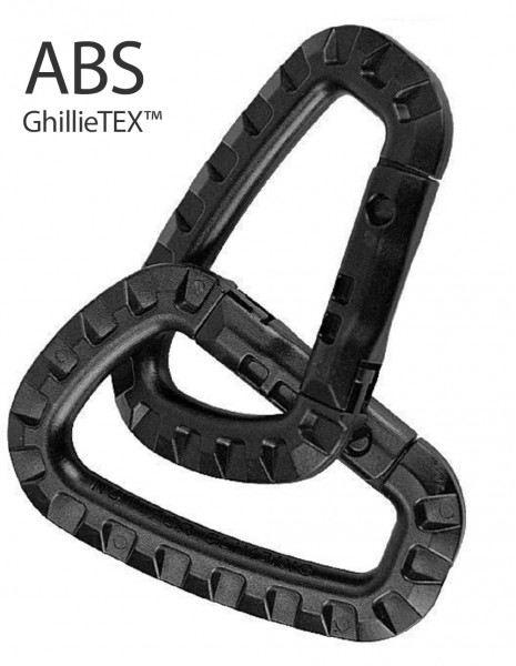 Miltec 15921002 Carabiner ABS Polymer Blister 2xPack