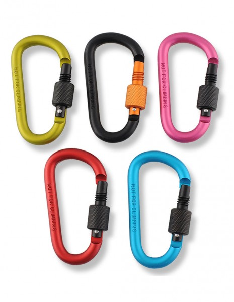 Aluminium Carabiner D-Ring Color 80mm Key Ring