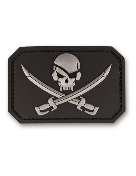 3D PVC Patch Pirate Skull With Swords Jolly Roger 16832202 Sale