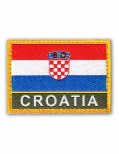 Military Army Patch Croatia Flag Velcro Color