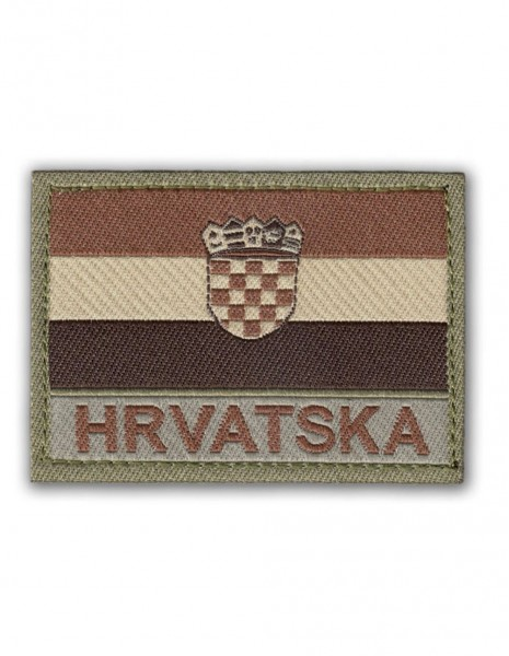 Military Army Patch Hrvatska Flag Velcro Multicam