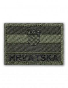 Vojna Oznaka Za Rukav Hrvatska / Hrvatska Zastava Subdued Olive Zelena