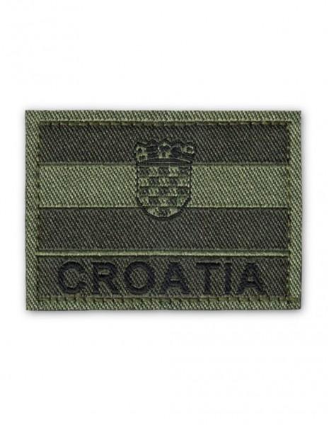 Vojna Oznaka Za Rukav Croatia Hrvatska Zastava Subdued Olive Zelena