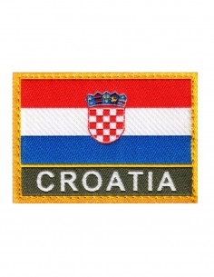 Military Army Patch Croatia Flag  Folia Color