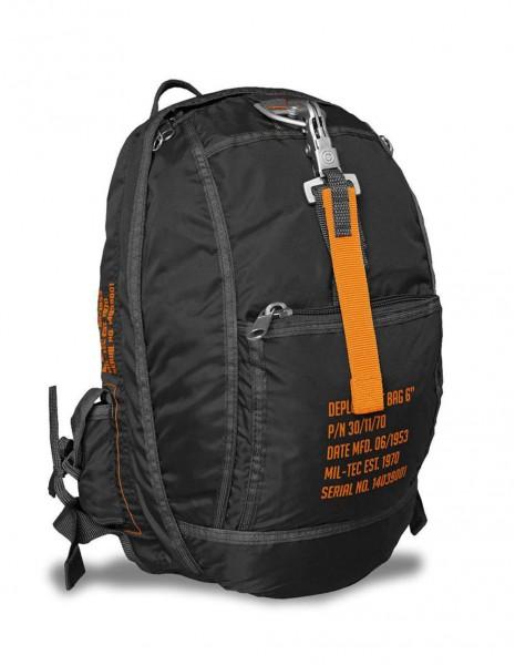 Miltec 14039002 Paratrooper Army Urban Hiking Backpack Deployment Bag 6 Black