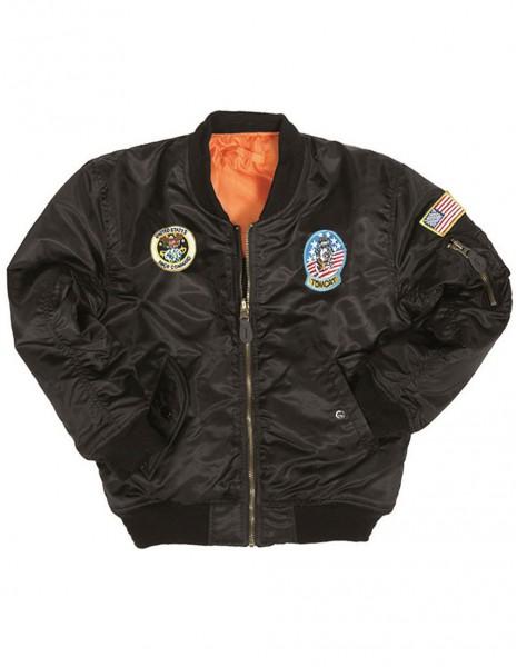 Kids MA1 Spitfire Flight Jacket Black 12003502 Sale
