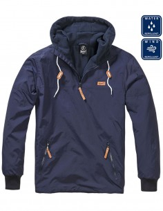 Brandit Windproof Waterproof Anorak Vjetrovka Navy Luke Windbreaker 9393 Akcija