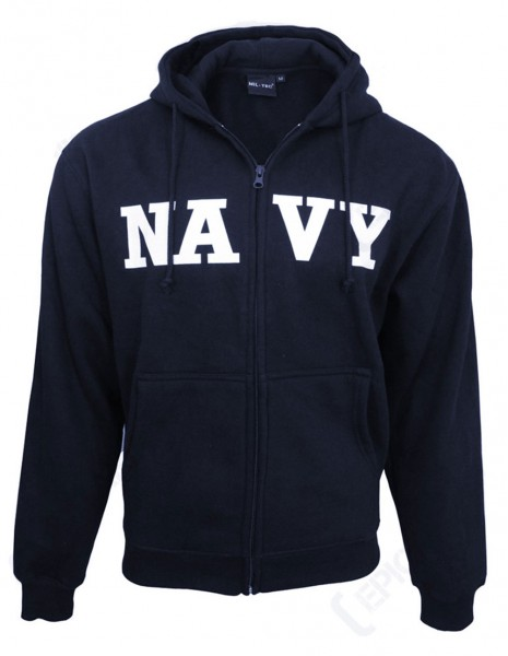 US Navy Marine Army Hoodie Gym Jacket Dark Navy  11450003 Discount