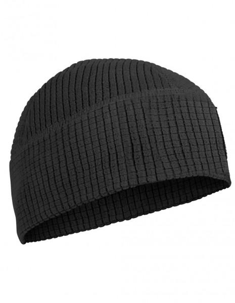 Beanie Quick Dry Grid Fleece Winter Hiking Sports Cap Black Sale 12144002