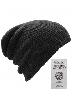 US Army Winter Hiking Hunting Cap 100% Wool Black Discount 12140002