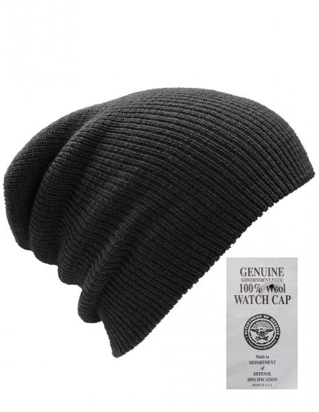 US Army Zimska Planinarska Vojna Kapa 100% Vuna Black Akcija 12140002