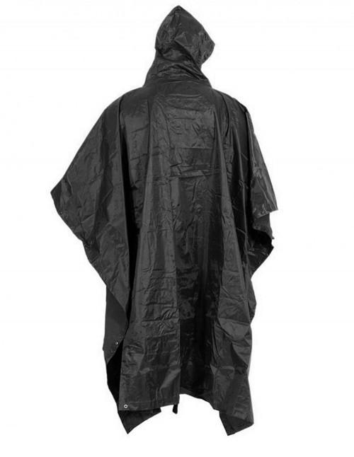Waterproof Poncho RipStop Black Sale 10630002