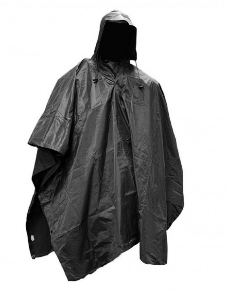 Waterproof Poncho RipStop Black Sale 10630002