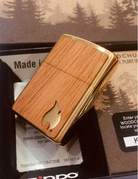 Original Zippo Lighter Woodchuck USA Flame Limited Edition