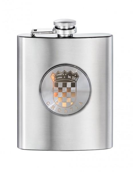 Gift Hip Flask Croatia Crest Emblem 200ml