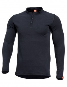 Romeo Henley T-Shirt Long Sleeve Black K09016