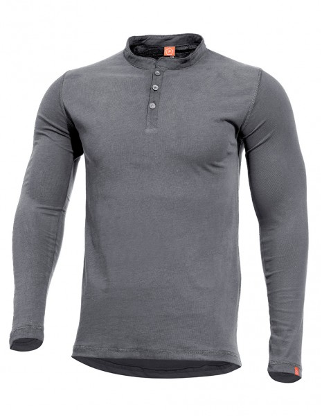 Romeo Henley T-Shirt Long Sleeve Gray K09016