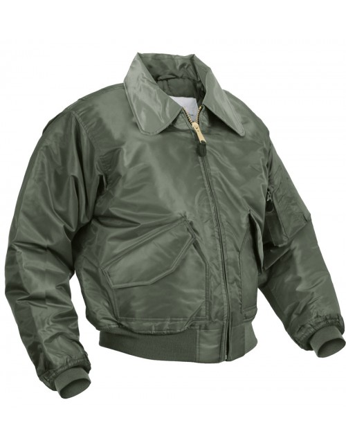 Original Pilotska Jakna Flight Jacket CWU 45 Olive 10404501