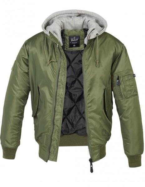 Flight Spitfire Jacket MA1 Hooded Olive / Gray