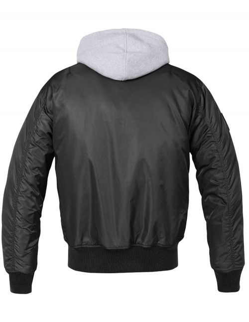 Flight Jacket MA1 Hooded Black / Gray 3150