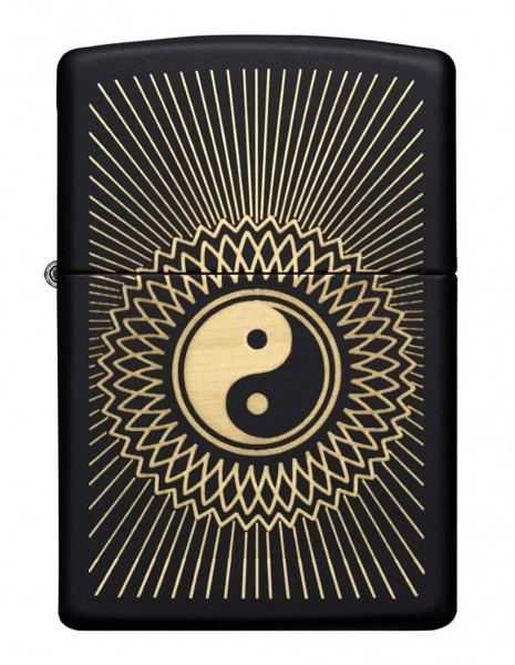Original Zippo Lighter Yin & Yang  Black Matte  29423 Sale