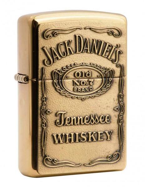 Zippo Lighter Jack Daniels Amblem Brass 254BJD 428
