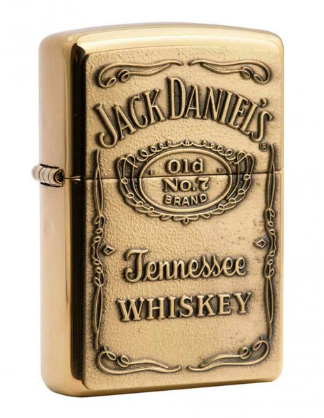 Zippo Upaljač Jack Daniels Amblem Brass 254BJD 428 Akcija