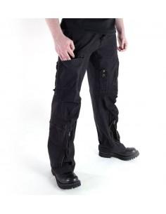 Pilot Army Military Cargo Vintage Pants Popeline Black Sale Discount 11502102