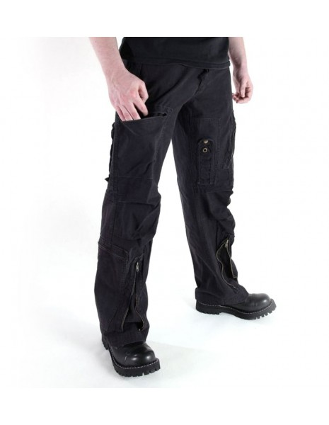 Pilot Army Military Cargo Vintage Pants Popeline Black Sale Discount 11502102