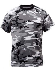 Camouflage T-Shirt Cotton Urban Camo 11012022