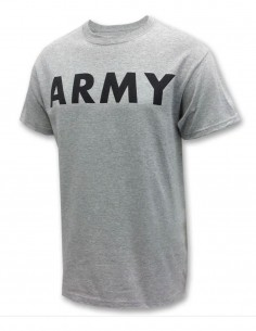 Miltec Training Gym T-Shirt Army Logo Gray 11063008 Sale
