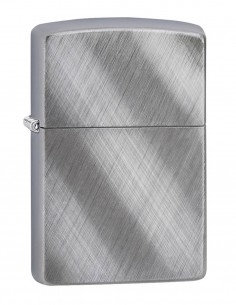 Original Zippo Upaljač Brushed Chrome Diagonal Wave Akcija