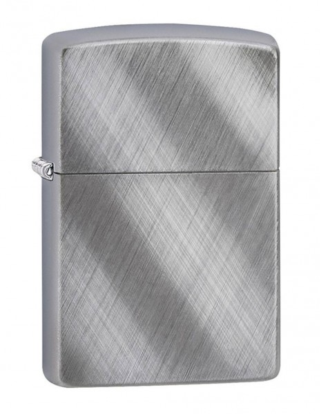 Original Zippo Lighter Brushed Chrome Diagonal Wave Sale