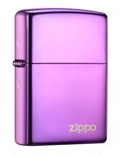 Original Zippo Lighter High Polish Purple Zippo Logo 24747ZL