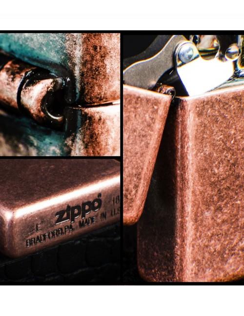 Original Zippo Upaljač Antique Copper 301FB