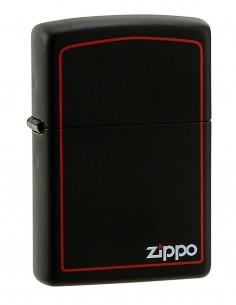 Original Zippo Upaljač Black Matte Zippo Logo Border 218ZB