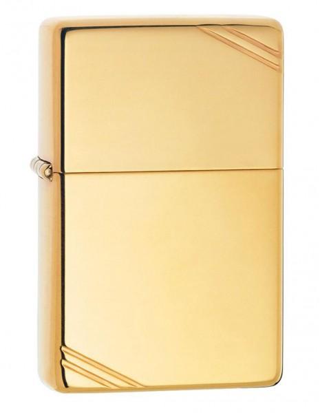 Original Zippo Lighter High Polish Brass Vintage with Slashes 270