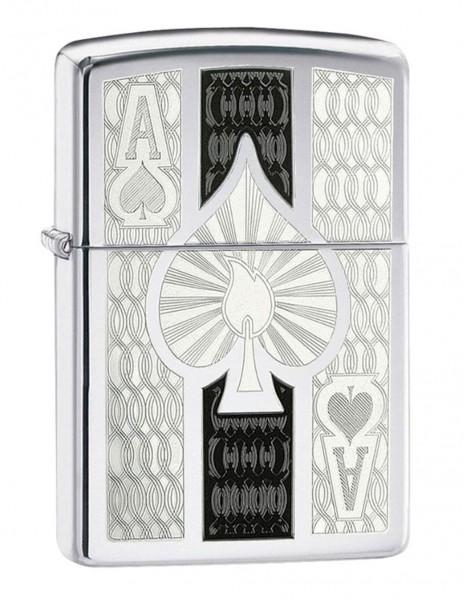 Zippo Lighter  Intricate Spade Design 24196