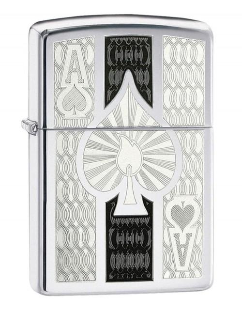 Original Zippo Upaljač Intricate Spade Design 24196